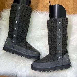 Skechers Charcoal knitted Winter boots